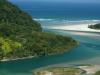 Vista aérea da Praia de Guaratuba e do Rio Guaratuba. Bertioga-SP, 2008. OBS: valor para utilização sob consulta.